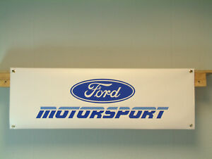 Ford Motorsport 90s banner Classic Car Show Workshop Garage display