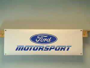 Ford Motorsport 90s banner Classic Car Show Workshop Garage display