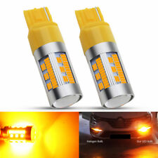 2x T20 7440 105SMD LED WY21W Canbus Amber Car Reversing Brake Turn Signal Light