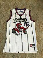 NWT Toronto Raptors Vince Carter Throwback Swingman WHITE Jersey Large