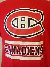 Men's Montreal Canadiens S/S Shirt Size L Large Short Sleeve NHL hockey red EUC