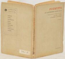 KATHERINE MANSFIELD POEMETTI POEMI GILBERTO ALTICHIERI SECONDA EDIZIONE 1943