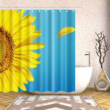 Bathroom Shower Curtain Decor Set Sunflower 3D printing Bath Curtains + 12 hooks