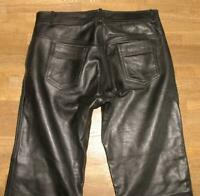 """ AKITO "" Herren- LEDERJEANS / Biker- Lederhose in schwarz in ca. W35"" /L32"""