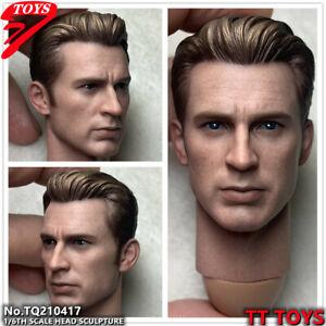 TTTOYS 1/6 Avengers Captain America Head Sculpt Steve Rogers Fit 12'' TBL Body