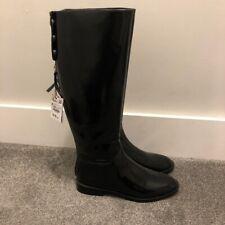 Zara High Shine Riding Boot BNWT Black Size 37 4