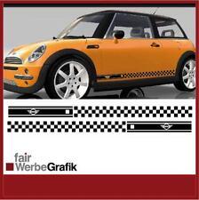 #010 Seitenbeschriftung Sticker Startnummer Mini Cooper Aufkleber