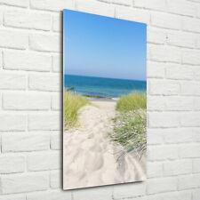 Wandbild Druck auf Plexiglas® Acryl Hochformat 70x140 Küstendünen