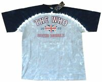 The Who Going Mobile 2002 Liquid Blue Tie Dye T Shirt New Official NWT