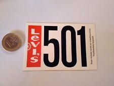 ADESIVO STICKER VINTAGE KLEBER  JEANS LEVI'S 501