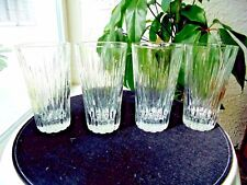 "Set of 4 Clear Icicles Highball Glasses 6"" Tall"