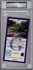 Tom Watson WIN 62nd Senior PGA Championship 2001 Ticket Signed AUTOGRAPH PSA DNA