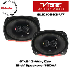 "VIBE SLICK 693-V7 - 6""x9"" 3-Way Car Shelf 6x9's Speakers 480W"