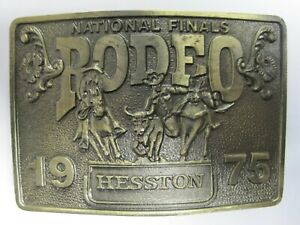 National Finals Rodeo Hesston 1975 NFR Adult Cowboy Buckle, Vintage