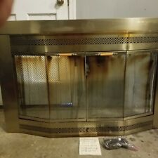 Glass Fireplace Screen Doors With Mesh Curtain Bay Window Style