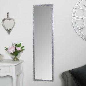 Tall Slim Jewelled Framed Mirror diamond glamorous luxurious full length wall