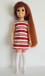 CRISSY DOLL CLOTHES Retro striped DRESS and white KNEE SOCKS Fashion NO DOLL d4e