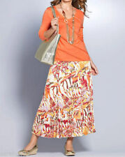 Calf Length Polyester Casual Maxi Skirts for Women