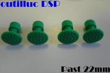 4  pastilles pour  DSP par collage ronde bombée 22mm.