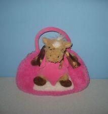 "10"" Popatu by Posh Pink Plush Purse Handbag w/Removable 7"" Horse Pony Cuddle Pal"