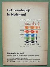 Gerd ARNTZ, Isotype, 1943;  Boeiende Statistiek:  Het Bouwbedrijf in Nederland