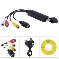 EasyCAP USB Video Capture Card VHS VCR TV to DVD Converter Adapter Audio Video