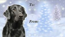 Flatcoated Retriever Christmas Labels by Starprint-No 1