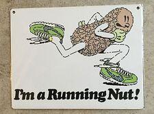 Nike Running Nut Runner Track Half Marathon 10K Vintage Poster Metal Sign Decor
