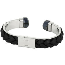 Swarvoski REvolution Black Leather Cuff Bracelet 5015598