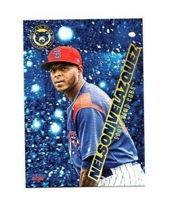 Nelson Velazquez 2021 South Bend Cubs Baseball card Carolina PR Chicago Cubs