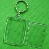 5/10Pcs Transparent Blank Insert Photo Picture Frame Key Ring Chain C jt