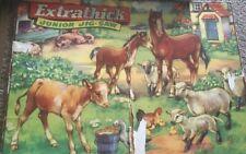 1960 S Cardboard Farm Animals Jigsaw No Box