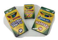 Crayola Colored Pencils - Pack of 24, Markers-Pack of 10, & Crayons-Pack of 24