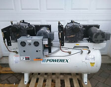Powerex Scroll 10hp 80gal Duplex Rotary Pump Oil Less Free Air Compressor Std503