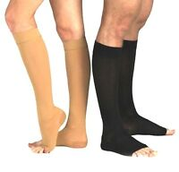 New Compression Socks OPEN TOE Knee High Leg Support Stockings S/M-XXL