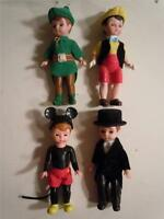 "Lot of 4 Madame Alexander Mcdonald's 5"" Toy Figures mickey, Pinocchio, Robinhood"