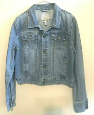 Aeropostale Youth Boys Size XL Blue Denim Jean Jacket Light Wash 100% Cotton