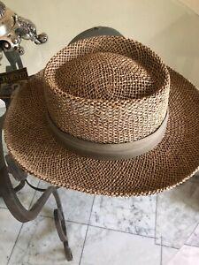 Dorfman Pacific Straw Golf Gambler Hat Large XL NEW
