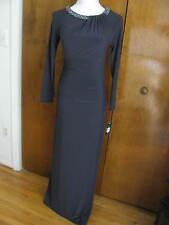 Ralph Lauren women's polished onyx embellished evening dress size 6P New