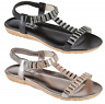 Ladies Summer Sandals Womens Low Heel Sling Back Flat Beach Shoes Size UK 3-8