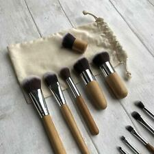 11pc Professional Bamboo Eco Friendly Make Up Contour Brush Set Tools