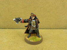Warhammer 40k painted Imperial Guard Commissar with Bolt Pistol