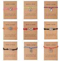 Make A Wish Bracelet Friendship Daughter Birthday Mum Sister Bridesmaid Gifts