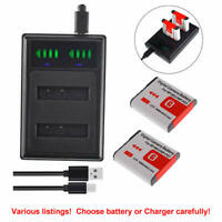 NP-BG1 Battery / USB Charger For SONY Cyber shot DSC-H90 HX30V HX20V HX10V HX9V