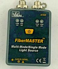 Ideal 33 929 Fibermaster Fiber Optic Quad Sm Mm Fiber Optic Light Source