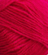 5 X 100g Robin DK Double Knitting Yarn Wool - Cerise Shade 097