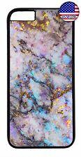 Marble Stone Granite Design Rubber Case Cover For iPhone 7 6 6s Plus 5 5s 5c 4s