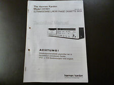 Service MANUAL Harman Kardon CD 401