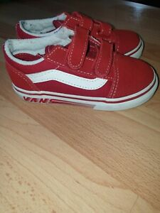 Red Vans Kids Size 8