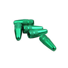 Mountain Bicycle Road Bike French Valve Mouth Nozzle Cover Cap Protect Green x 2